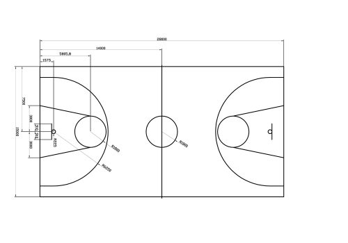 Basketbalveld - Standaard
