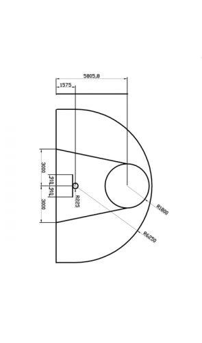 Basketbalveld - 3-puntenlijn & bucket -570