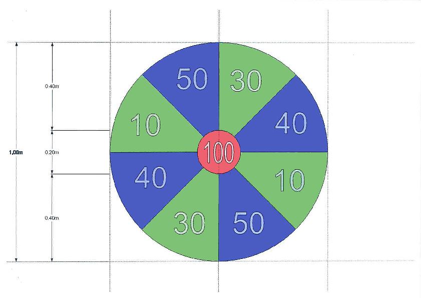 Dartbord Basis + 3 werp darts