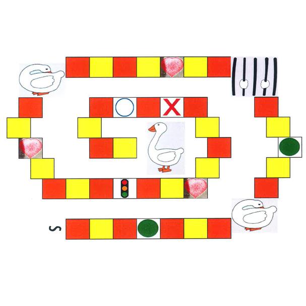 Ganzenbord spel-806