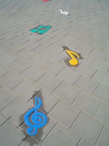 Muzieknoten set van 10 stuks