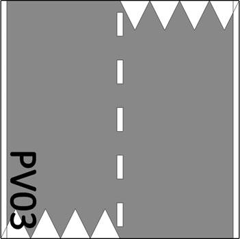 2 Baansweg met 8 haaientanden