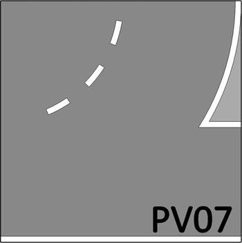 2 Baans bocht met invoeg -642