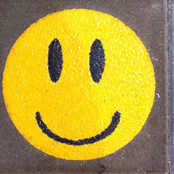 Smiley Ø 25 cm geel-683
