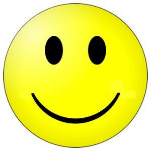 Smiley Ø 25 cm geel-684