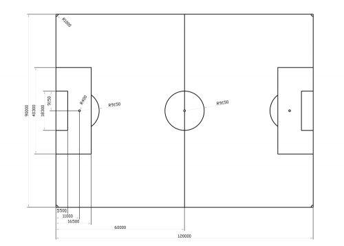 Voetbalveld - standaard -582