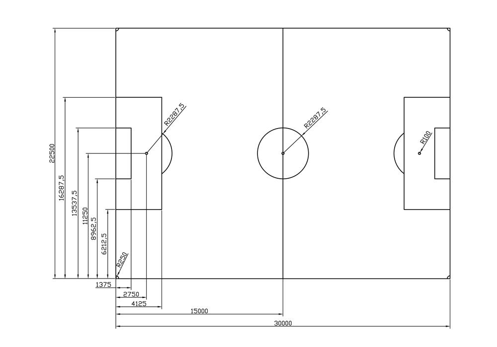 Voetbalveld - klein -581